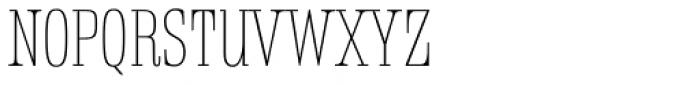 Rigatoni Thin Font UPPERCASE