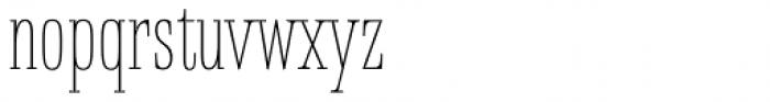 Rigatoni Thin Font LOWERCASE