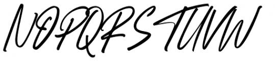 Right Female Regular Font UPPERCASE