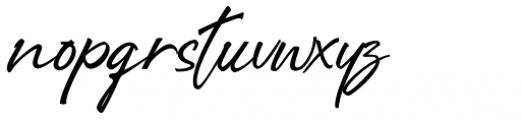 Right Female Regular Font LOWERCASE