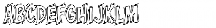 Right In The Kisser SMAK Font LOWERCASE