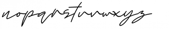 Right Now Thin Italic Font LOWERCASE