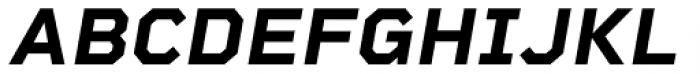 Rigid Square Bold Italic Font UPPERCASE