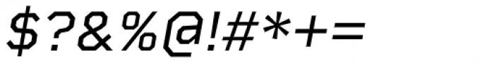 Rigid Square Italic Font OTHER CHARS