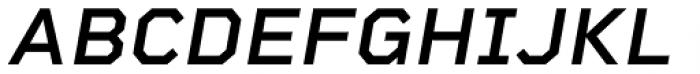 Rigid Square Semi Bold Italic Font UPPERCASE