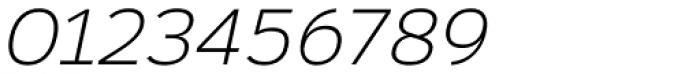 Rigo Light Italic Font OTHER CHARS