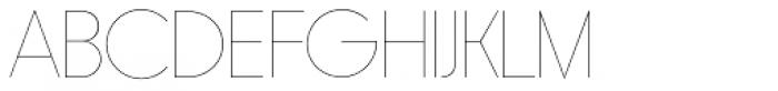 Rimouski UltraLight Font UPPERCASE