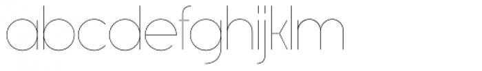 Rimouski UltraLight Font LOWERCASE