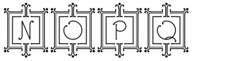 Ringlings Deco Caps Font LOWERCASE