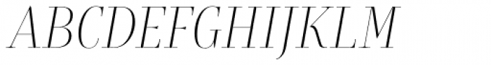 Rion Light Italic Font UPPERCASE