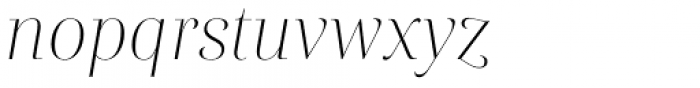 Rion Light Italic Font LOWERCASE
