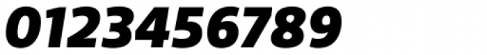 Riona Sans Black Italic Font OTHER CHARS