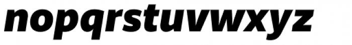 Riona Sans Black Italic Font LOWERCASE