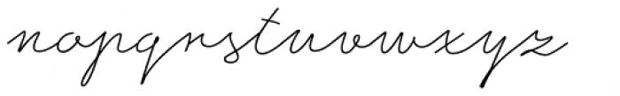 Ripley Light Font LOWERCASE