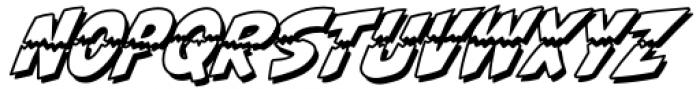 Ripped Bam Boom Outline Font UPPERCASE