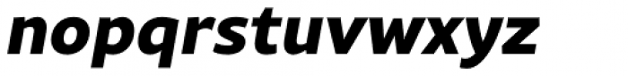 Rival Sans Extra Bold Italic Font LOWERCASE
