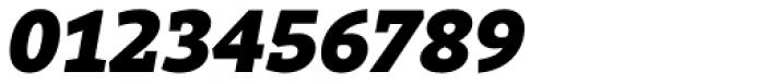 Rival Slab Black Italic Font OTHER CHARS