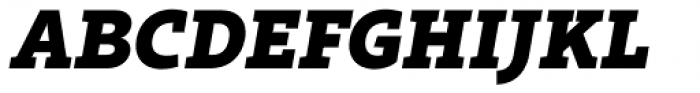Rival Slab Black Italic Font UPPERCASE