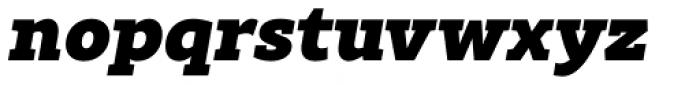Rival Slab Black Italic Font LOWERCASE