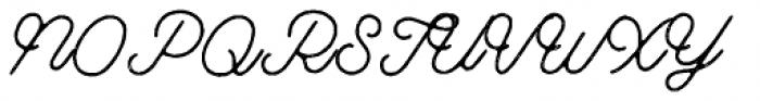 Riverside Stamp Font UPPERCASE