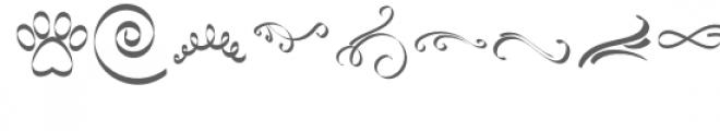 ribbon 2 dingbats font Font UPPERCASE