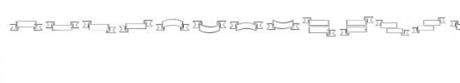 ribbons dingbat Font UPPERCASE
