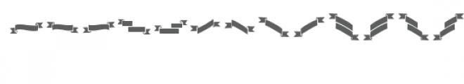 ribbons dingbat Font LOWERCASE
