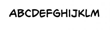 Richard Starkings Regular Font LOWERCASE