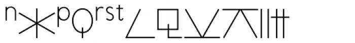 RLG Astro Light Font LOWERCASE