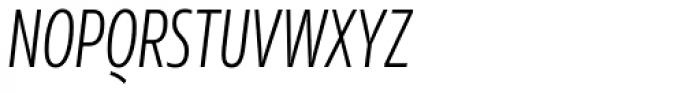 Rleud Condensed Light Italic Font UPPERCASE