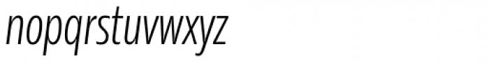Rleud Condensed Light Italic Font LOWERCASE