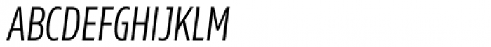 Rleud Condensed SC Light Italic Font LOWERCASE