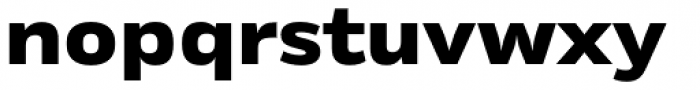 Rleud Extended Heavy Font LOWERCASE