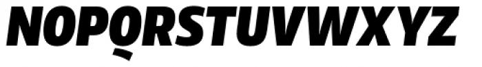 Rleud Narrow Black Italic Font UPPERCASE