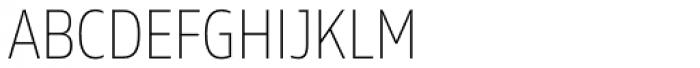 Rleud Narrow SC Thin Font LOWERCASE