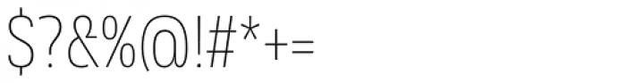 Rleud Narrow Thin Font OTHER CHARS