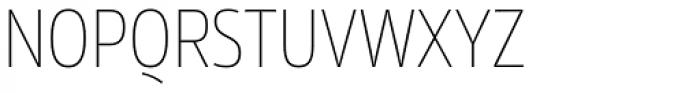 Rleud Narrow Thin Font UPPERCASE