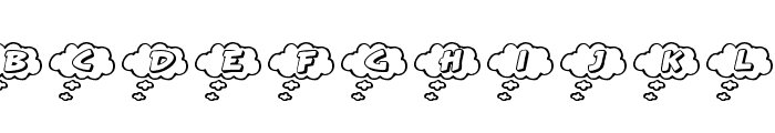 RMCloud Font UPPERCASE