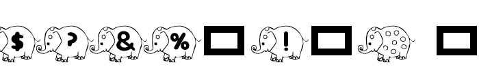 RMElephant4 Font OTHER CHARS