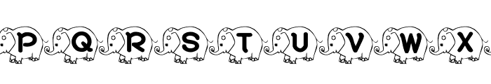 RMElephant4 Font UPPERCASE