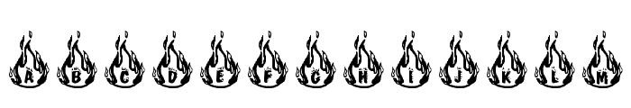 RMFIRE Font UPPERCASE