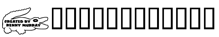 RMGator Font LOWERCASE