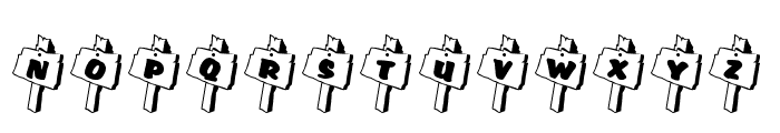 RMSignpost Font UPPERCASE