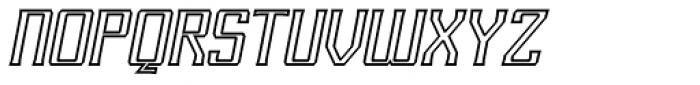 RM Imber Outline Italic Font UPPERCASE