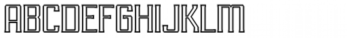 RM Imber Outline Regular Font UPPERCASE