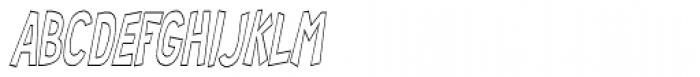 RM Random 3-D Condensed Italic Font LOWERCASE