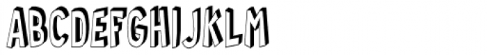 RM Random 3-D Condensed Font UPPERCASE