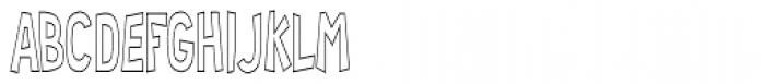 RM Random 3-D Condensed Font LOWERCASE