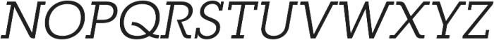 RNS Camelia Italic otf (400) Font UPPERCASE