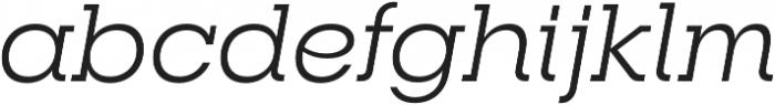 RNS Camelia Italic otf (400) Font LOWERCASE